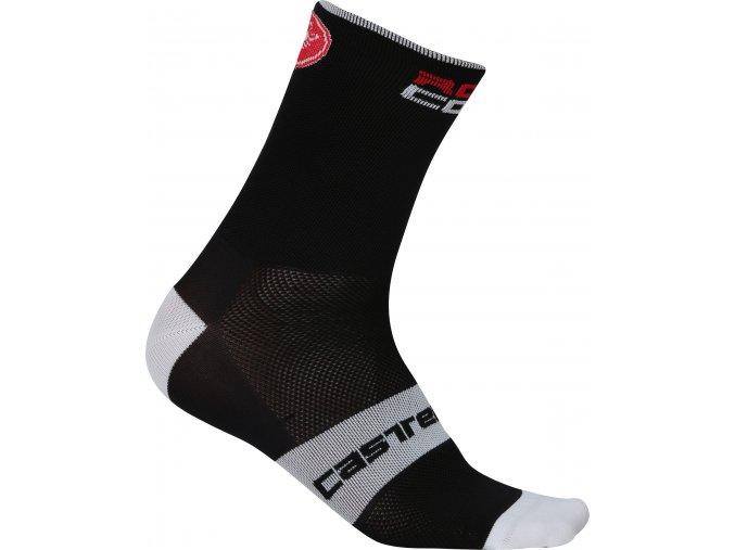 Castelli - pánské ponožky Rosso Corsa 6 cm, black