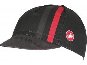 Castelli - čepice Podio Doppio Cap, black/red
