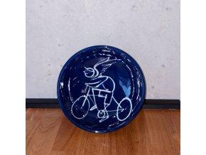 Cyklistická jídelní miska (cyklistický anděl strážný)