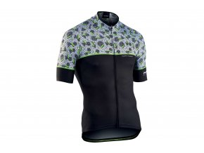 northwave fresh short sleeve jersey black green EV295525 8560 1