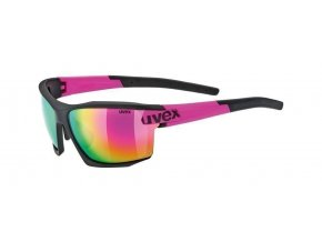 Brýle UVEX Sportstyle 113 black mat pink