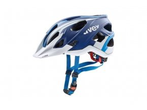 18 UVEX HELMA STIVO CC, BLUE WHITE MAT 52-57