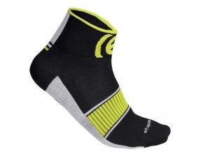 Etape - ponožky SOX, černá/žlutá fluo