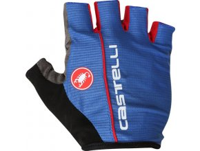 Castelli - pánské rukavice Circuito, surf blue/red