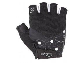 Etape - dámské rukavice BETTY, černá/bílá
