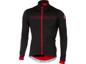 Castelli - pánský dres Fondo FZ, black/red