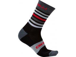 Castelli - pánské ponožky Gregge 15, black/red