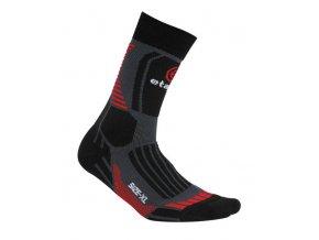 Etape - ponožky CROSS, černá/červená