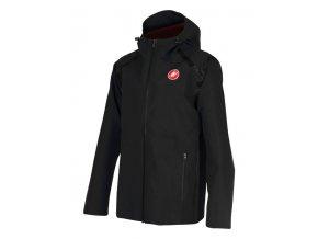Castelli – pánská bunda Meccanico Rain Shell, black/red