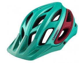 H17ETTCC HG front GreenRed m50 cascos helmets mtb