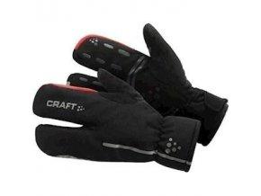 Cyklorukavice CRAFT Siberian Split Finger černá XS