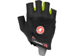 Castelli – rukavice Arenberg Gel 2, black yellow fluo