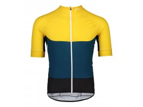 poc essential road light radtrikot gelb blau 1