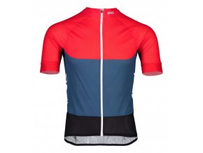 poc essential road light radtrikot rot blau 1