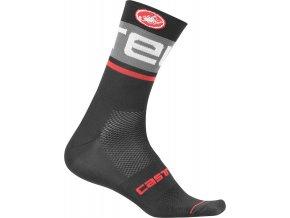 Castelli - pánské ponožky Free Knit 13 cm, black/dark grey