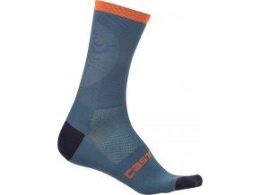 Castelli - pánské ponožky Ruota 13, light steel blue/orange