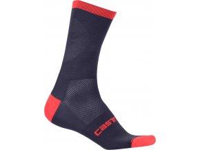 Castelli - pánské ponožky Ruota 13, dark steel bleu/red