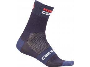 Castelli - pánské ponožky Rosso Corsa 9 cm, dark steel blue