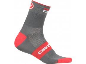 Castelli - pánské ponožky Rosso Corsa 9 cm, anthracite/red