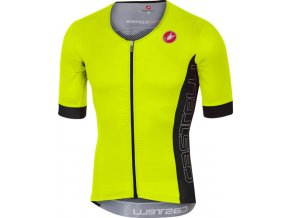 Castelli - pánský dres Free Speed Race, yellow fluo/antracit
