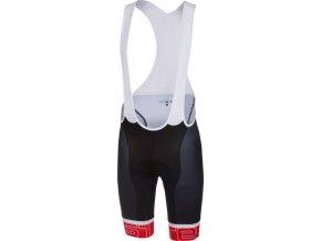 Castelli - pánské kalhoty Volo s vložkou, black/red