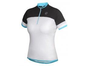 Etape - dámský dres CLARA, bílá/světle modrá