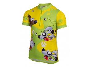 Etape - dětský dres RIO, zelená/žlutá