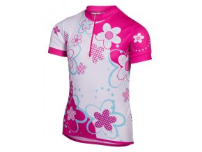 Etape - dětský dres RIO, bílá/růžová