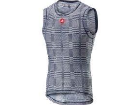 Castelli - pánské funkční prádlo Pro Mesh bez rukávů, dark steel blue/white