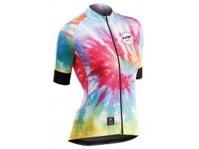 Cyklodres NORTHWAVE Hippie W Jersey Short Sleeves Switch Line Rainbow - dámský