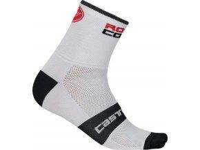 Castelli - pánské ponožky Rosso Corsa 9 cm, white