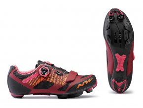 Cyklotretry NORTHWAVE Razer Dark Red/Black Woman