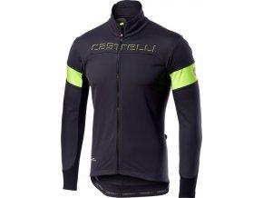Castelli - pánská bunda Transition dark grey/yellow fluo