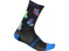 Castelli - pánské ponožky Pazzo 18 cm black