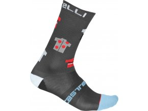 Castelli - pánské ponožky Pazzo 18 cm dark grey