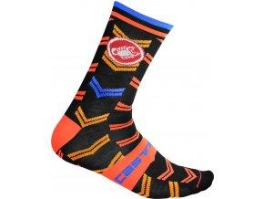 Castelli - pánské ponožky Transition 18 cm black
