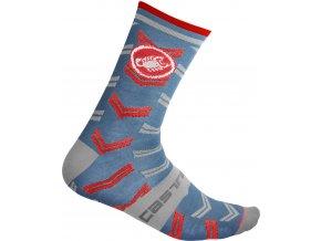 Castelli - pánské ponožky Transition 18 cm light blue