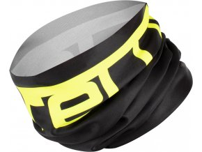 Castelli – multifunkční šátek Viva 2 Thermo, black/yellow fluo