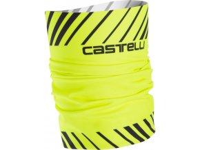 Castelli - nákrčník Arrivo 3 Thermo, yellow fluo
