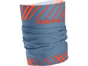 Castelli - nákrčník Arrivo 3 Thermo, light blue/orange