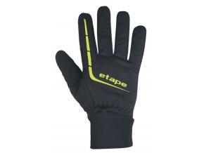 Etape - pánské rukavice GEAR WS+, černá/žlutá fluo