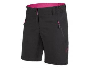 Etape - dámské volné kalhoty CAT, černá/růžová