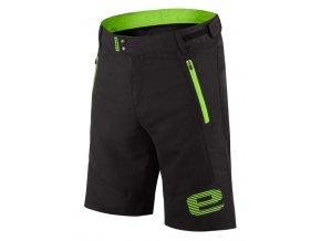 Etape - pánské volné kalhoty FREEDOM, černá/zelená