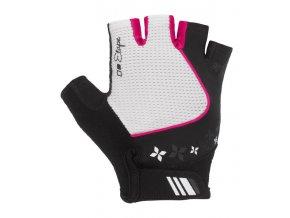 Etape - dámské rukavice AMBRA, bílá/růžová