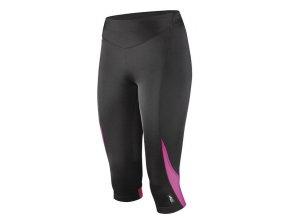 Etape - dámské kalhoty TERRY 3/4, černá/růžová