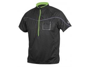 Etape - pánský volný dres POLO, černá/zelená