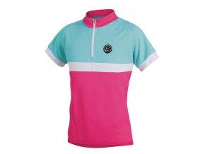 Etape - dětský dres BAMBINO, růžová/aqua