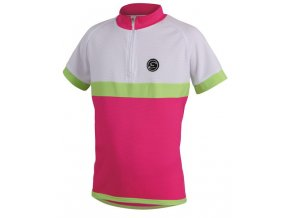 Etape - dětský dres BAMBINO, růžová/bílá