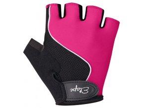 Etape - dětské rukavice SIMPLE, růžová/černá