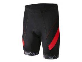 Etape - pánské kalhoty PROFI PAS s vložkou, černá/červená